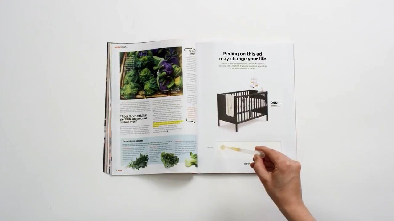 IKEA'dan hamilelik testi pozitif çıkanlara indirim sağlayan sihirli reklam