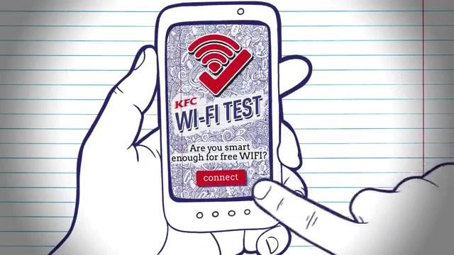 KFC restoranlarında ücretsiz Wifi kullanmak isteyen öğrenciler bu testi geçmek zorunda