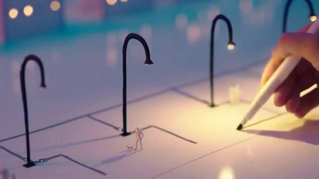 Minyatür bir kenti elektriğe kavuşturan gümüş mürekkepli kalem